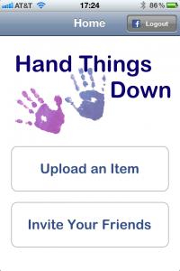 Hand Things Down's first iPhone application